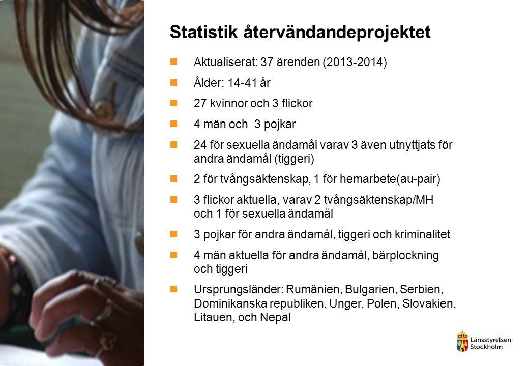 Statistik återvändandeprojektet