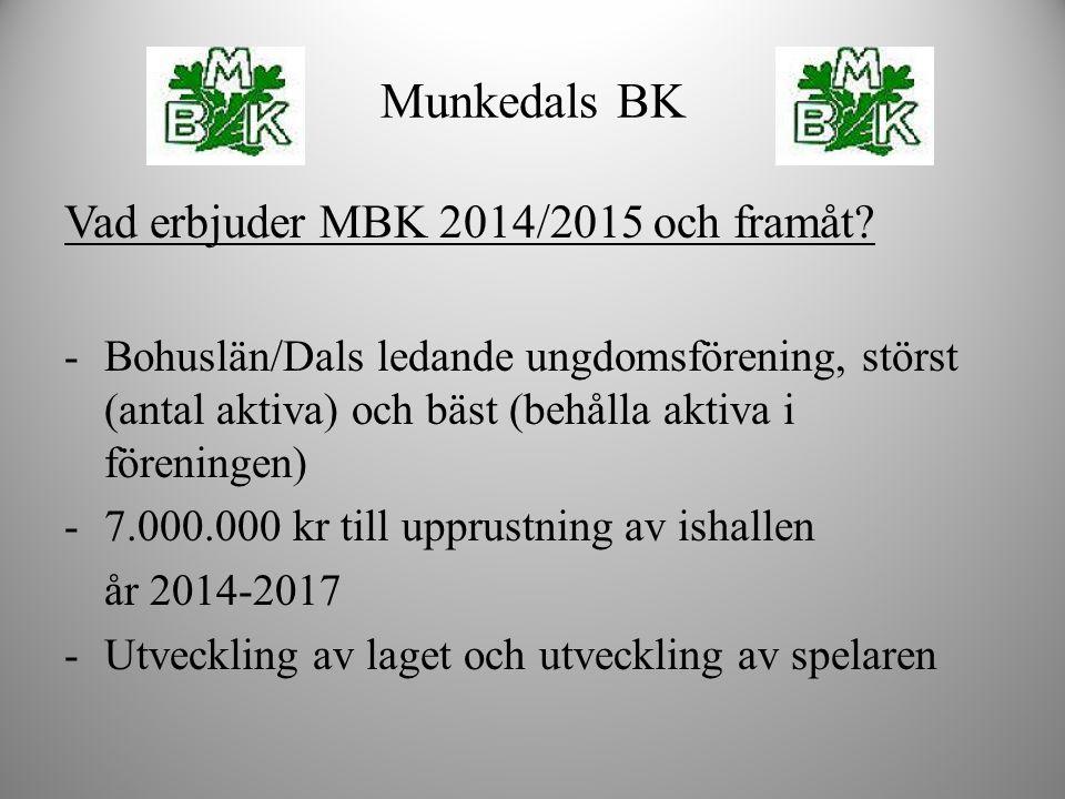 Munkedals BK Vad erbjuder MBK 2014/2015 och framåt