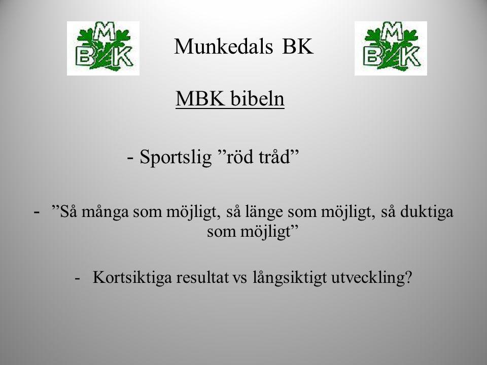 Munkedals BK MBK bibeln - Sportslig röd tråd