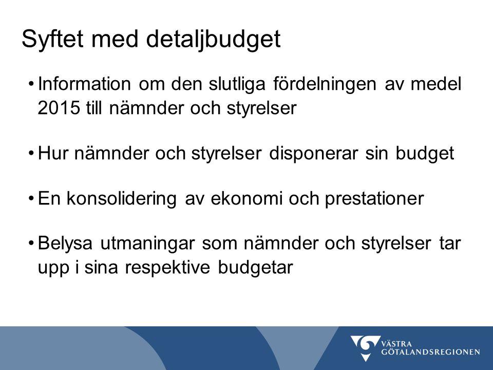 Syftet med detaljbudget
