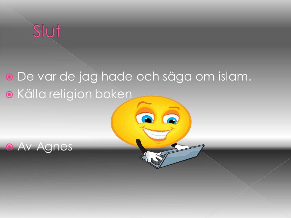 Slut De var de jag hade och säga om islam. Källa religion boken