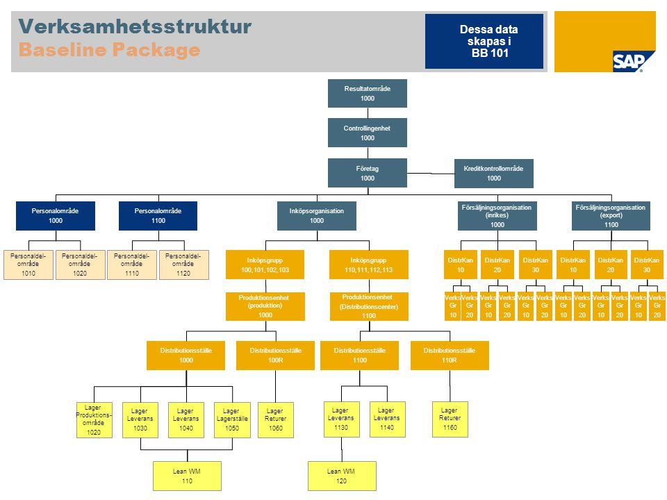 Verksamhetsstruktur Baseline Package