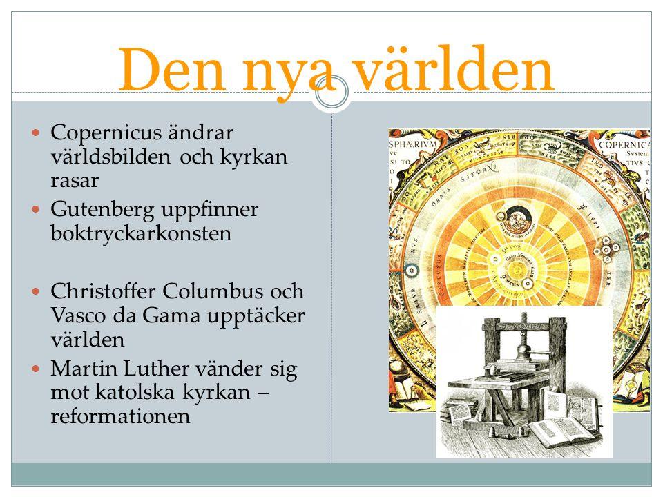 Den nya världen Copernicus ändrar världsbilden och kyrkan rasar