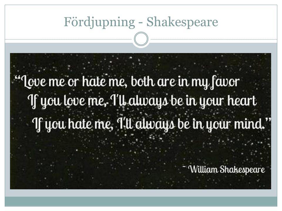 Fördjupning - Shakespeare