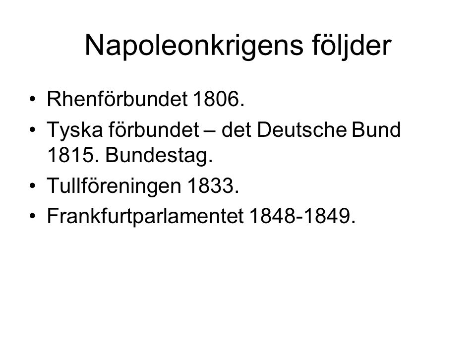 Napoleonkrigens följder