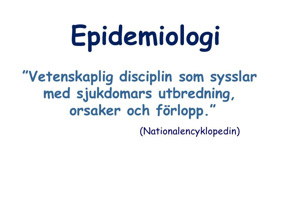 Vetenskaplig disciplin som sysslar med sjukdomars utbredning,