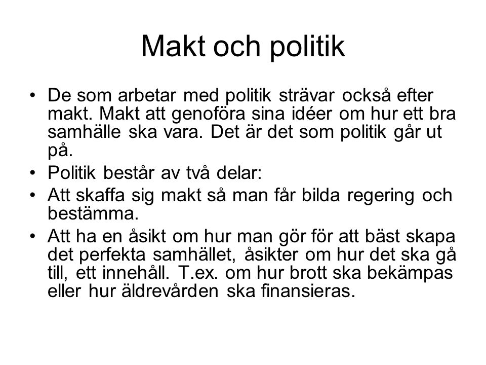 Makt och politik