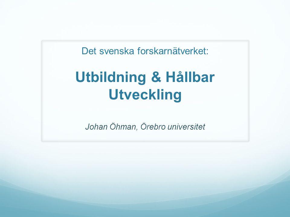 Johan Öhman, Örebro universitet