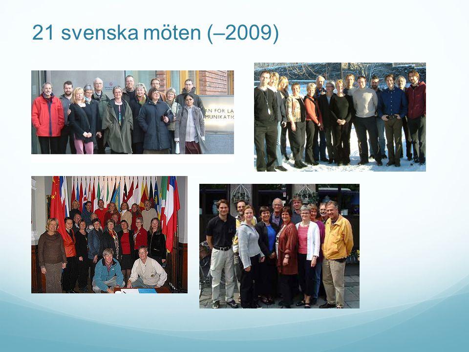 21 svenska möten (–2009)