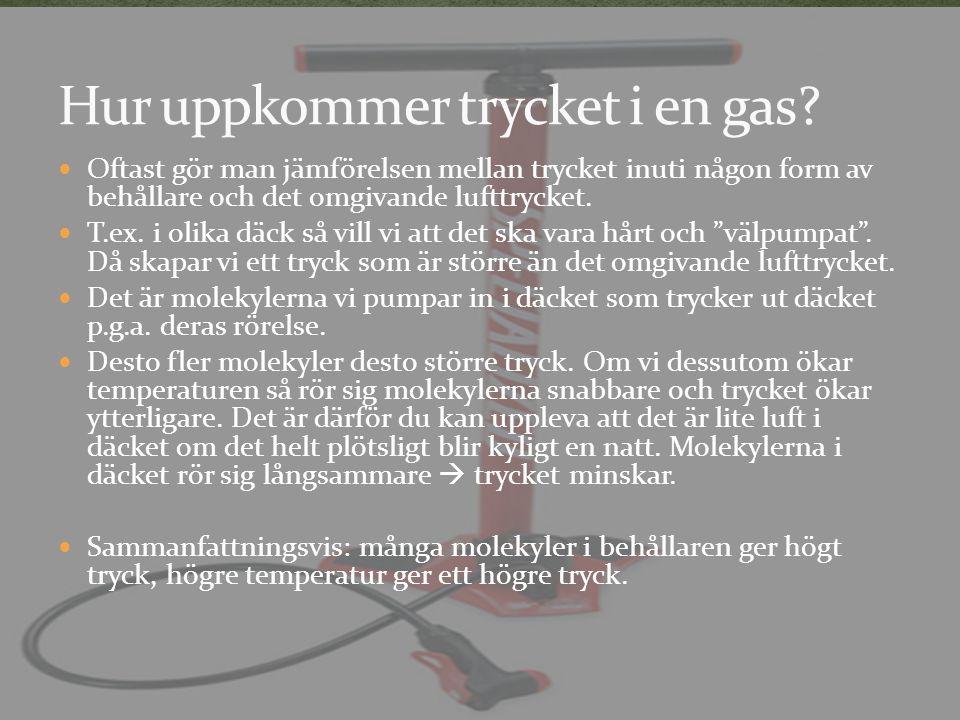 Hur uppkommer trycket i en gas