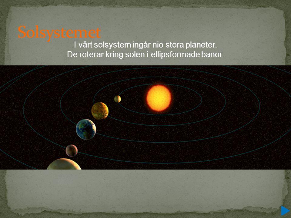 Solsystemet I vårt solsystem ingår nio stora planeter.