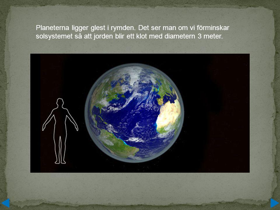 Planeterna ligger glest i rymden