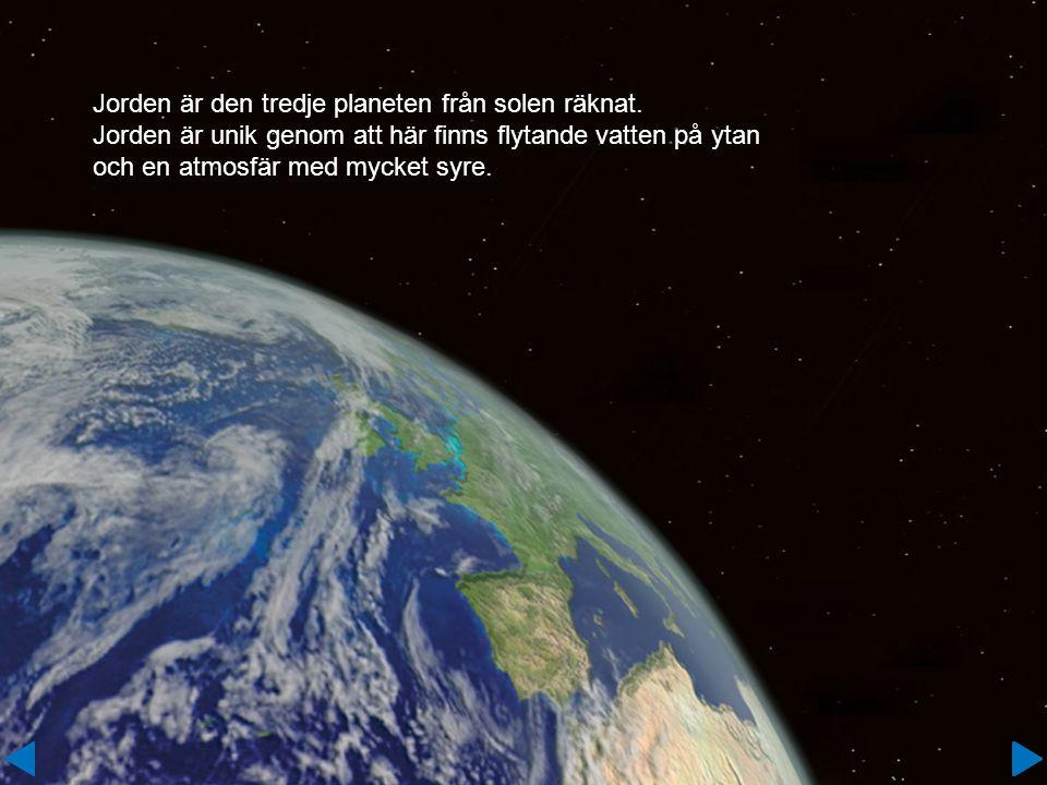 Jorden är den tredje planeten från solen räknat