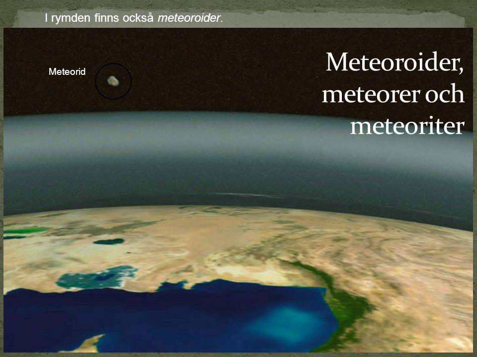 Meteoroider, meteorer och meteoriter