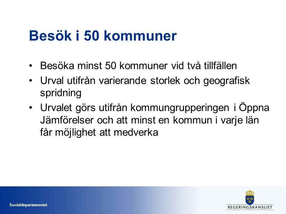 Besök i 50 kommuner Besöka minst 50 kommuner vid två tillfällen