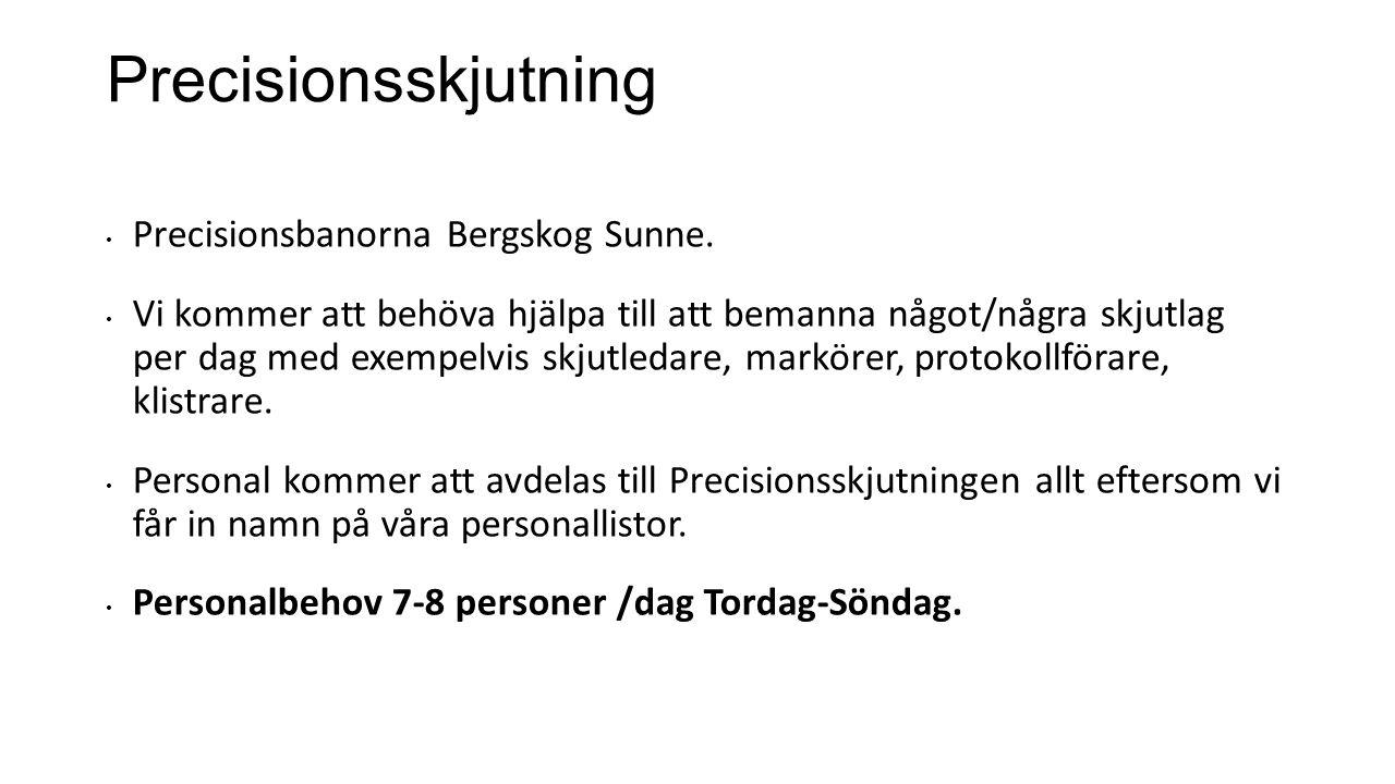 Precisionsskjutning Precisionsbanorna Bergskog Sunne.