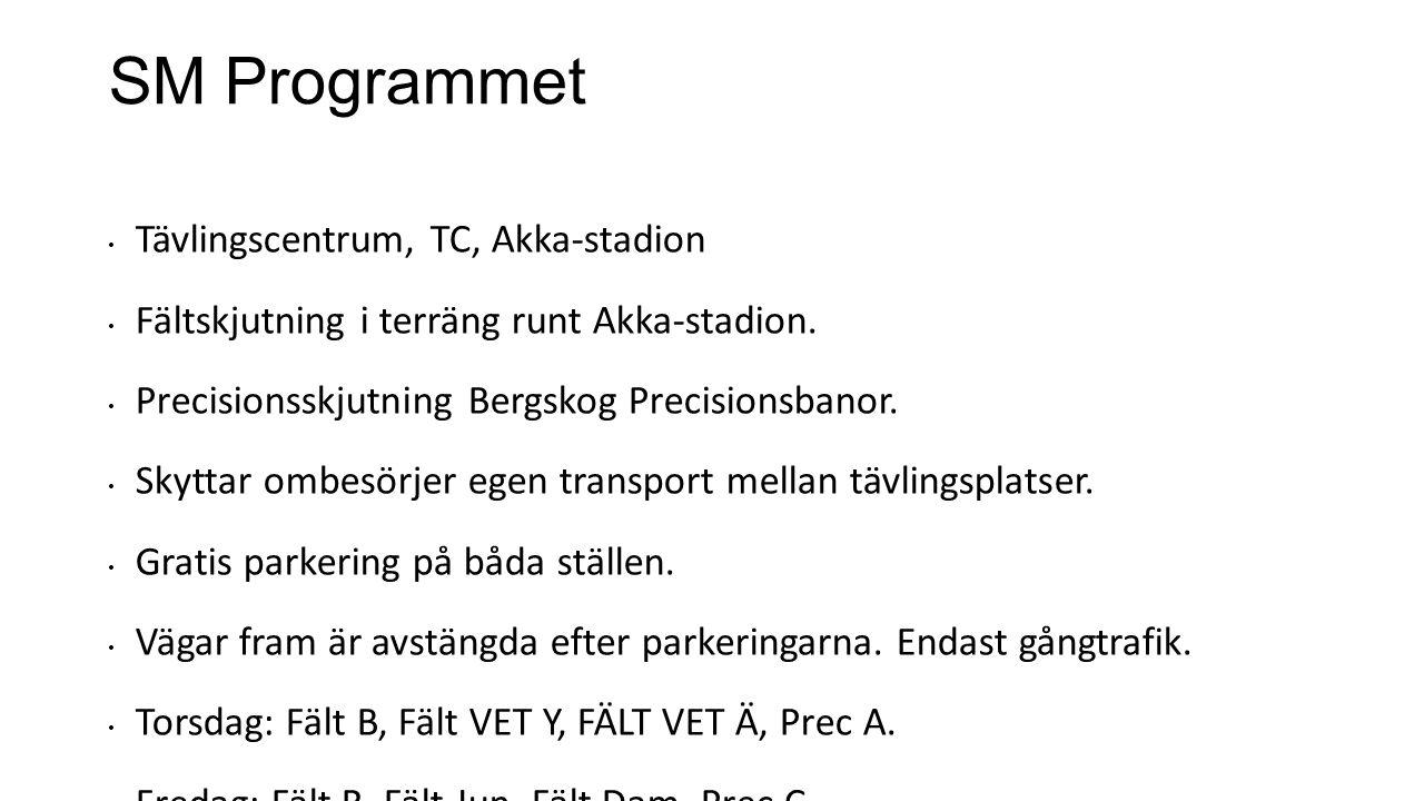SM Programmet Tävlingscentrum, TC, Akka-stadion