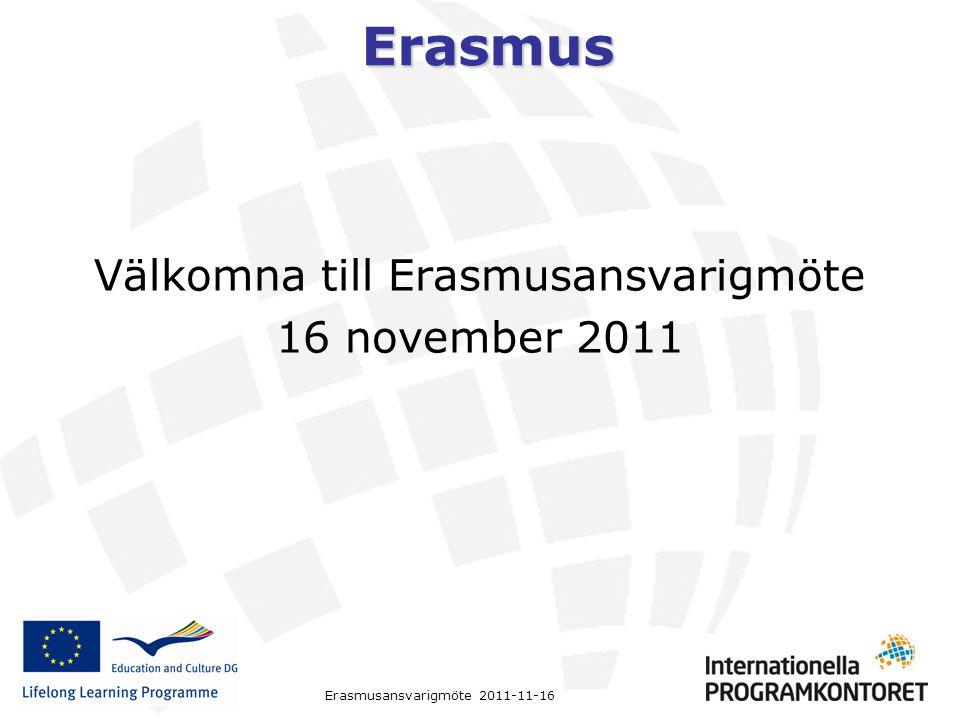 Välkomna till Erasmusansvarigmöte
