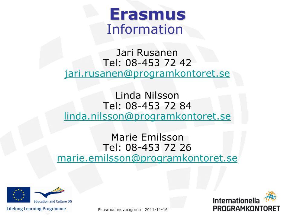 Information Jari Rusanen Tel: 08-453 72 42