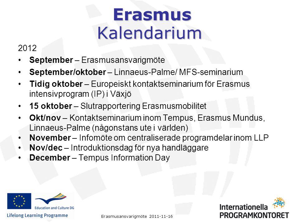 Kalendarium 2012 September – Erasmusansvarigmöte