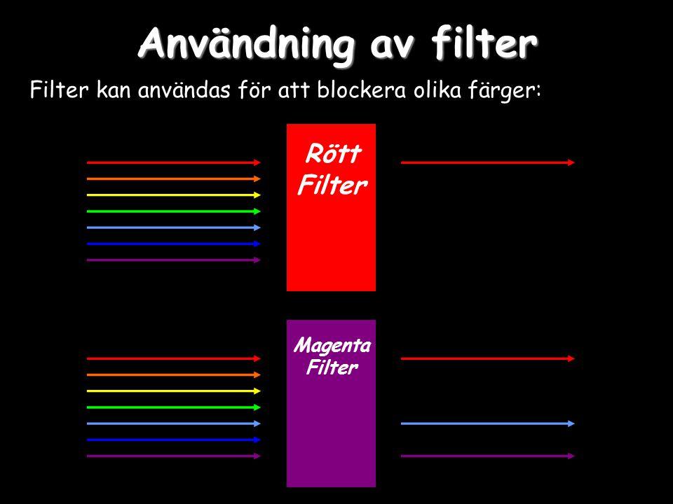 Användning av filter Rött Filter