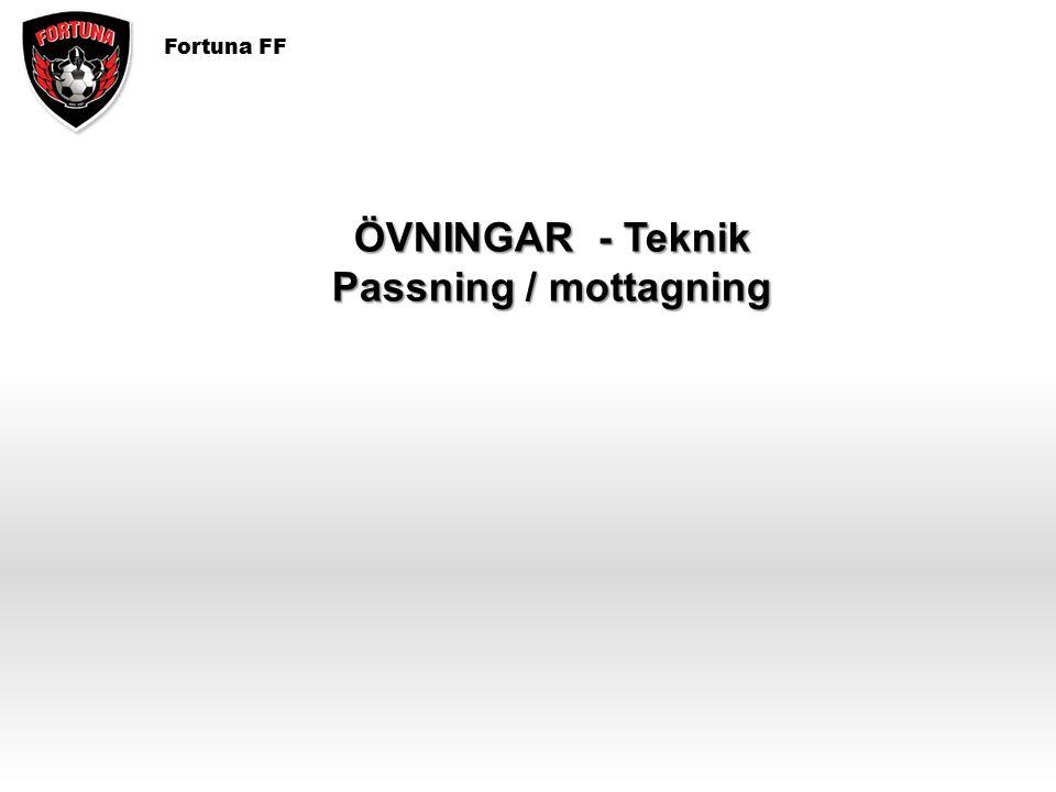 ÖVNINGAR - Teknik Passning / mottagning