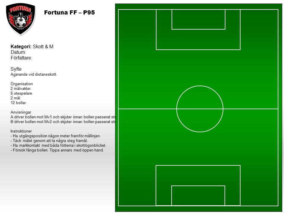Fortuna FF – P95 Kategori: Skott & M Datum: Författare: Syfte