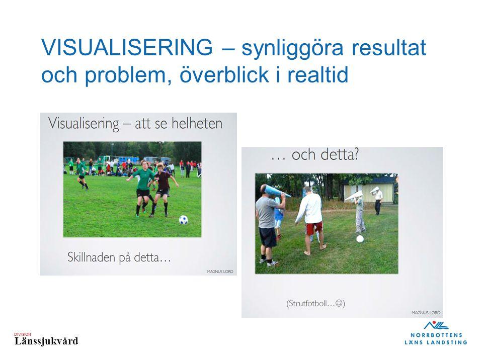 VISUALISERING – synliggöra resultat och problem, överblick i realtid