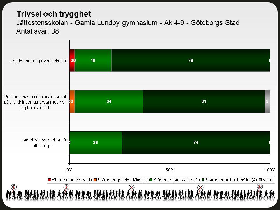 Trivsel och trygghet Jättestensskolan - Gamla Lundby gymnasium - Åk 4-9 - Göteborgs Stad.