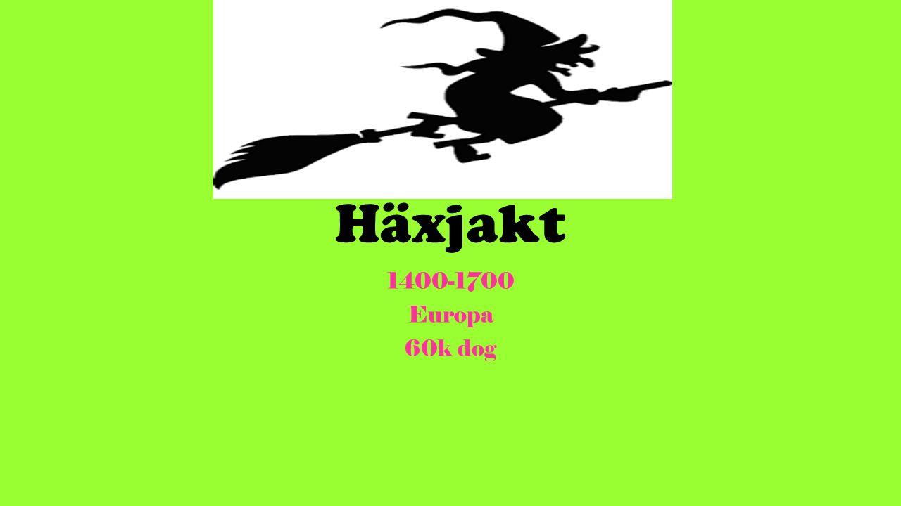Häxjakt 1400-1700 Europa 60k dog