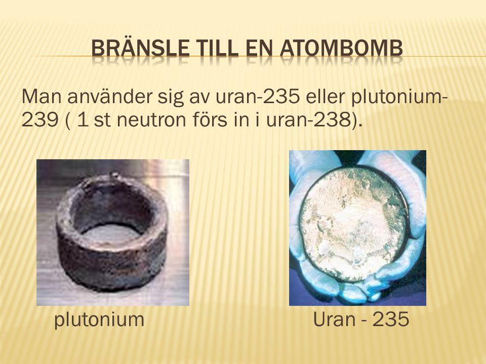 Bränsle till en atombomb