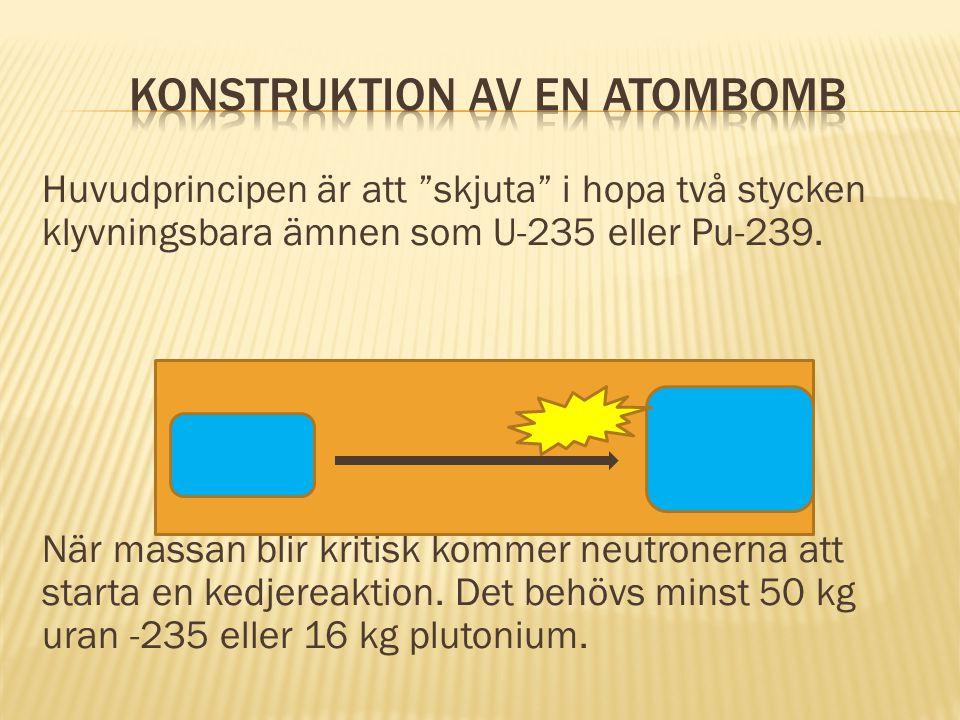 Konstruktion av en atombomb