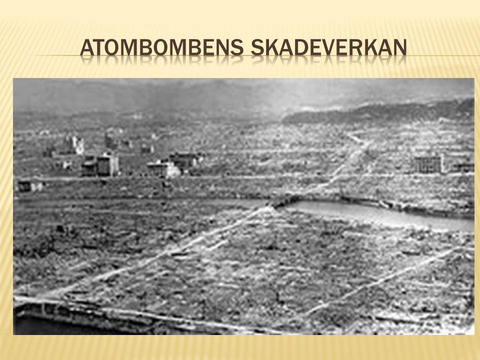 Atombombens skadeverkan