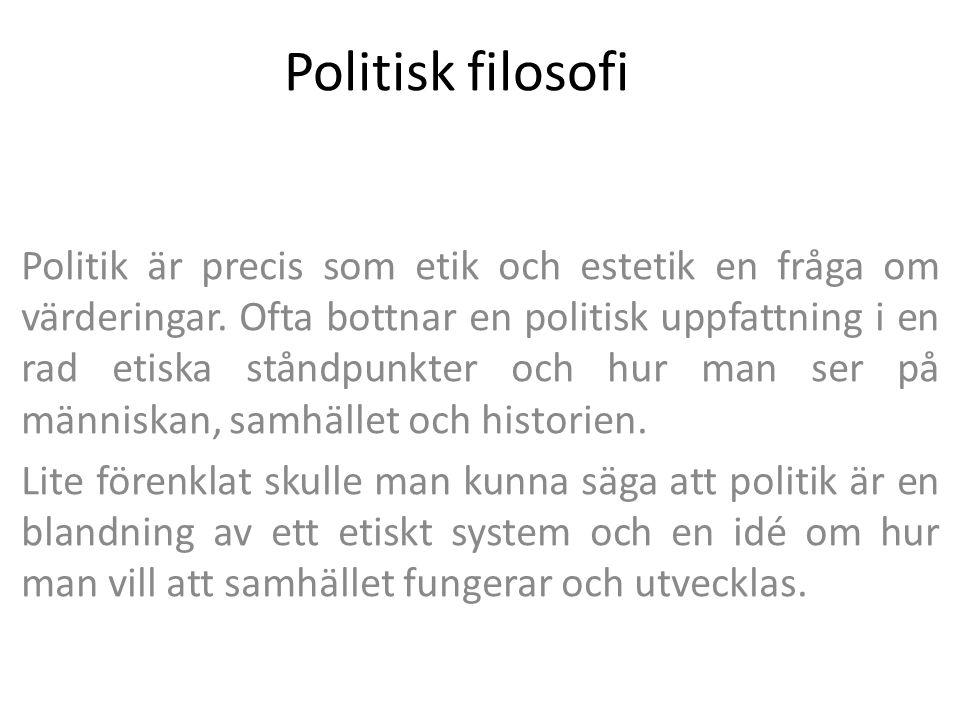 Politisk filosofi