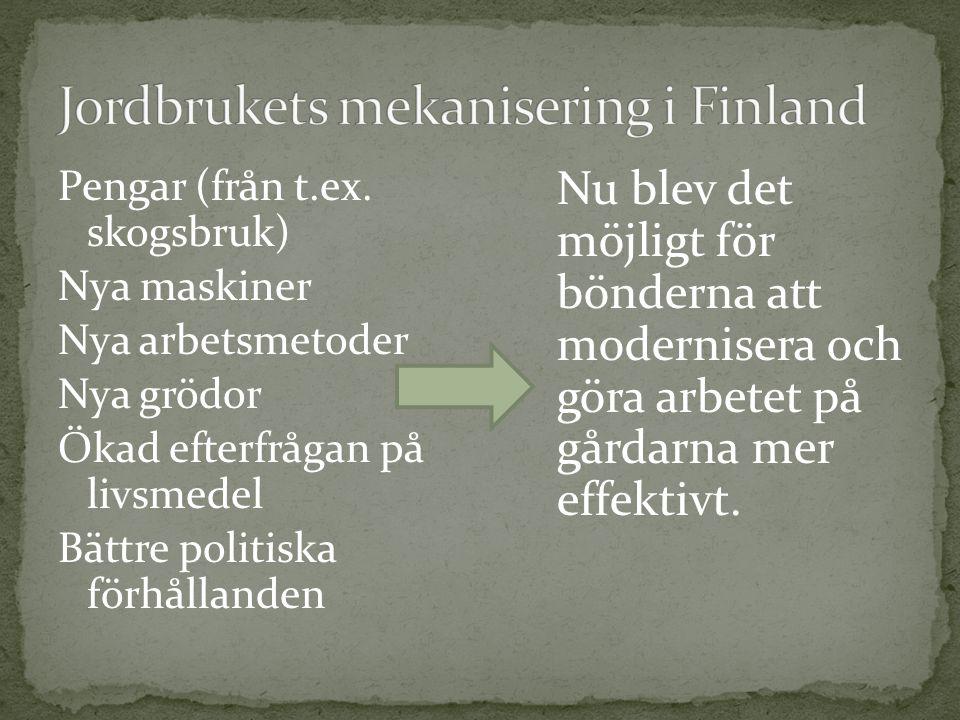 Jordbrukets mekanisering i Finland