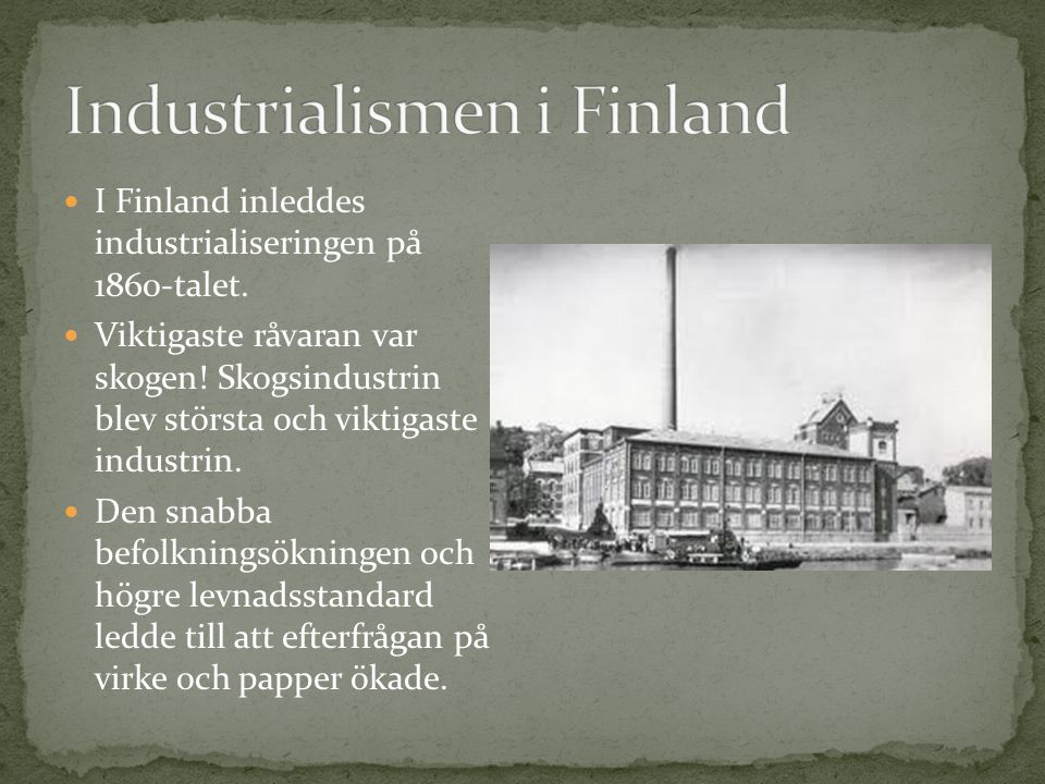 Industrialismen i Finland