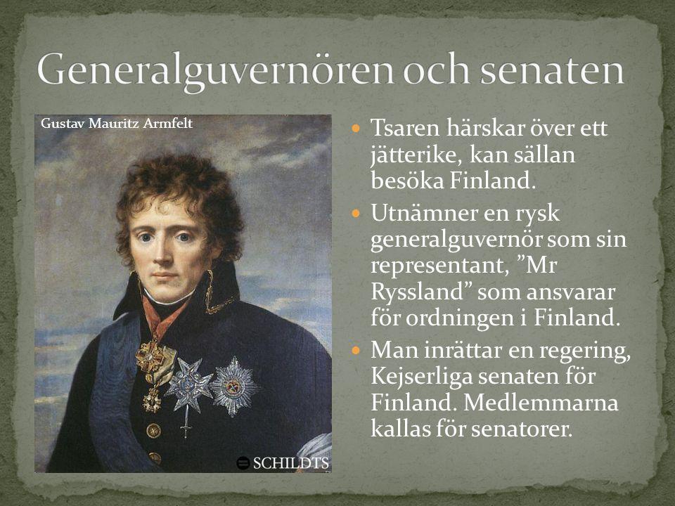 Generalguvernören och senaten