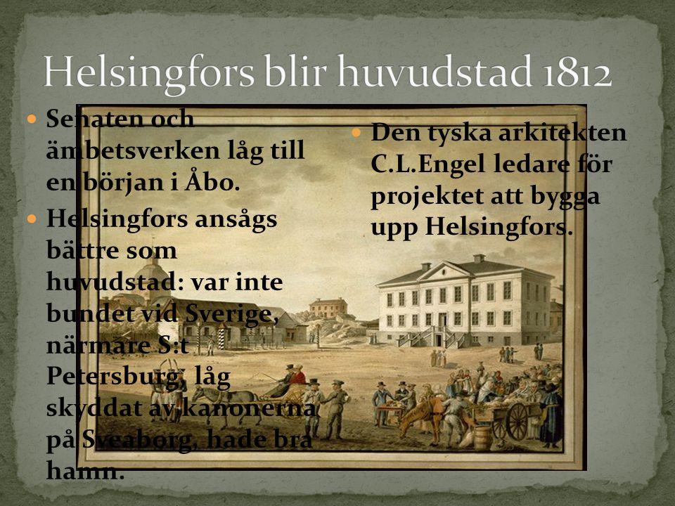 Helsingfors blir huvudstad 1812