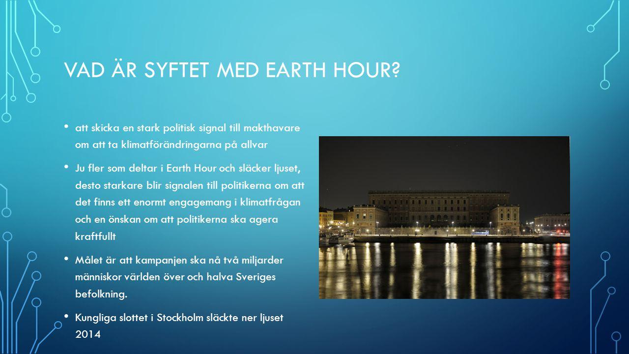 Vad är syftet med Earth Hour