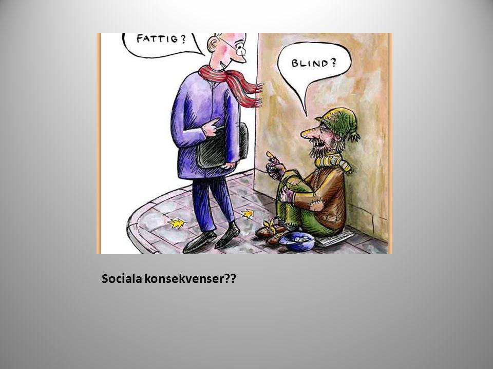 Sociala konsekvenser
