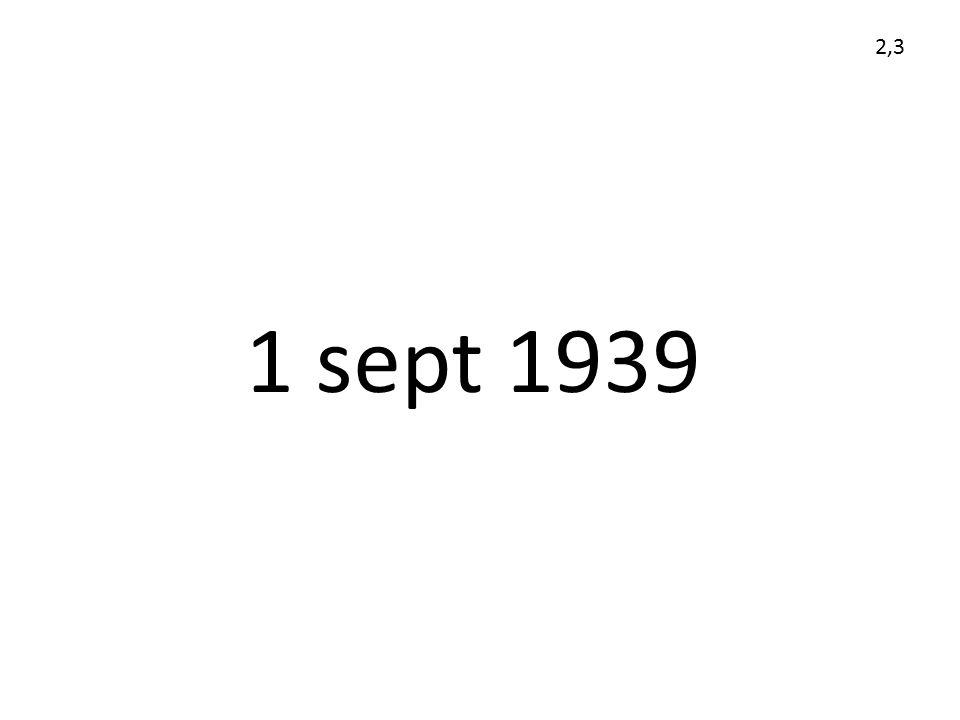 2,3 1 sept 1939