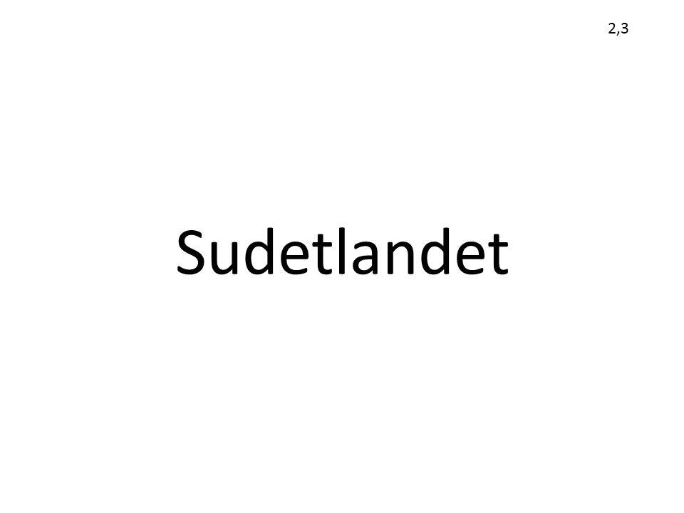 2,3 Sudetlandet
