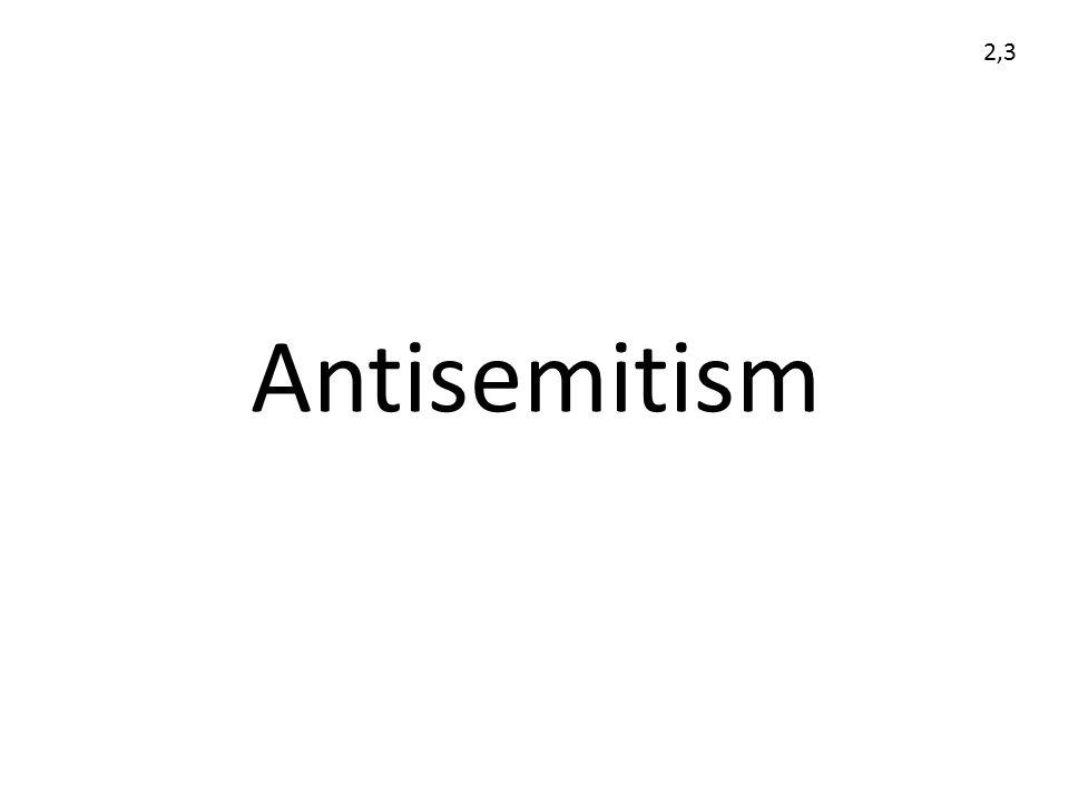 2,3 Antisemitism