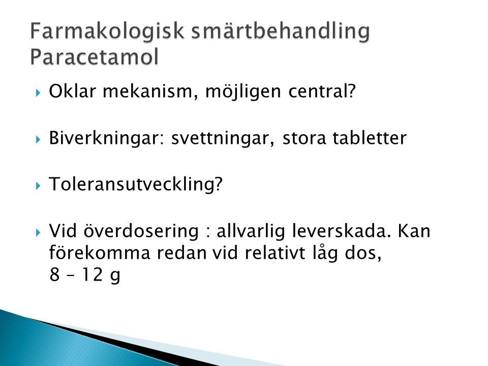 Farmakologisk smärtbehandling Paracetamol