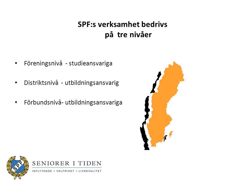 SPF:s verksamhet bedrivs på tre nivåer
