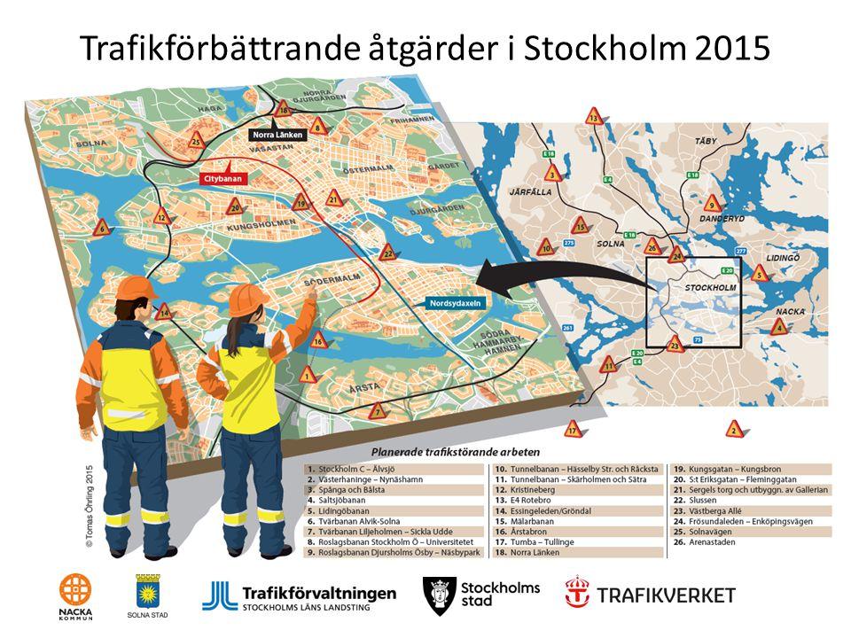 Trafikförbättrande åtgärder i Stockholm 2015