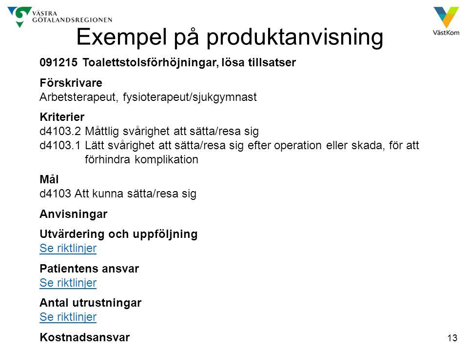 Exempel på produktanvisning