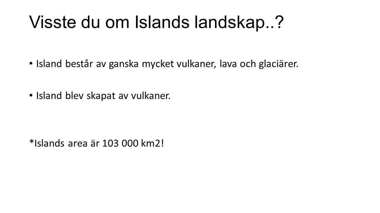 Visste du om Islands landskap..