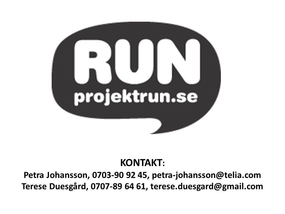 KONTAKT: Petra Johansson, 0703-90 92 45, petra-johansson@telia.com