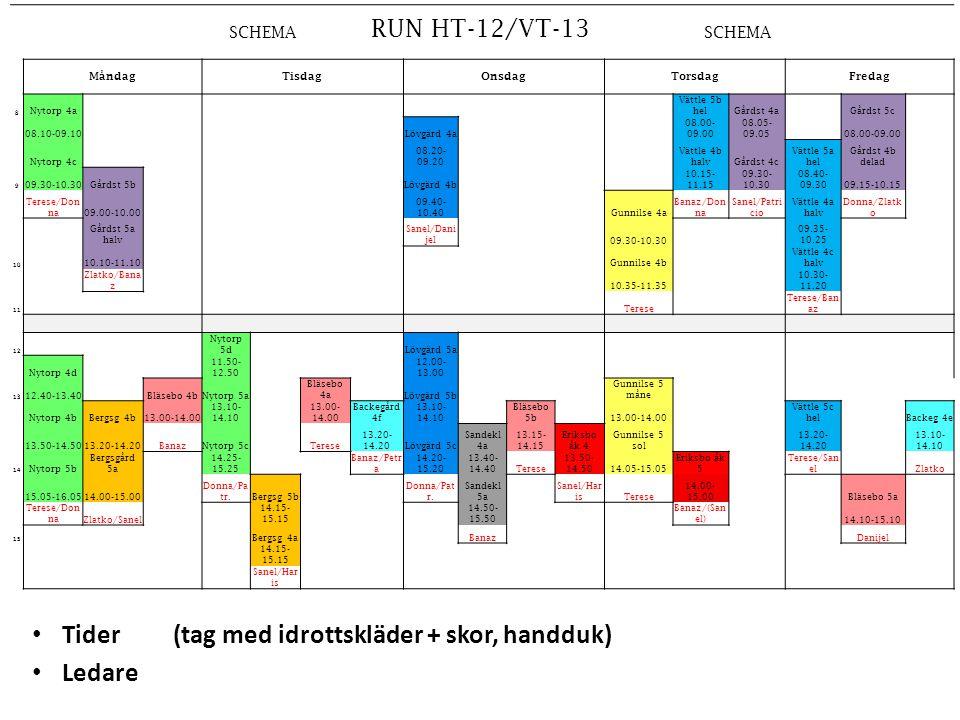 SCHEMA RUN HT-12/VT-13 SCHEMA